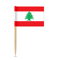 flag of lebanon flag toothpick vector image