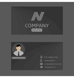 Grey card vector image