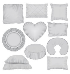 pillow mockup set realistic style vector image