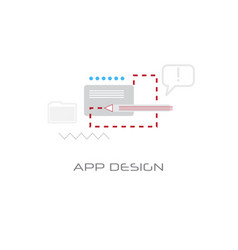 application graphic development interface app vector image