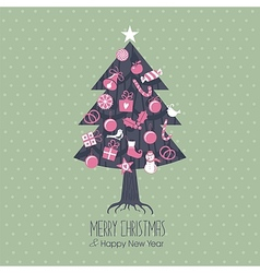 Assorted Christmas Tree vector