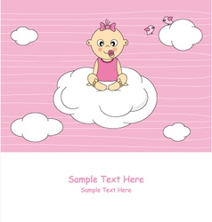 Baby sitting on a cloud vector