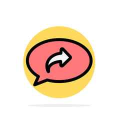 Basic chat arrow right abstract circle background vector