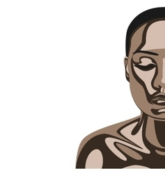 Beauty Woman with Chocolate Mask on Skin vector image