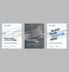 brochure layout design vector image