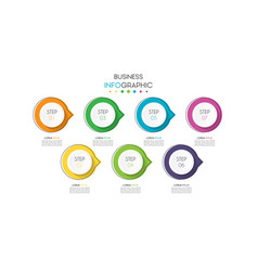 business infographic element with 7 options steps vector image
