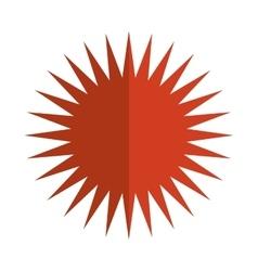 cartoon sun icon vector image