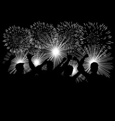Celebration with fireworks vector
