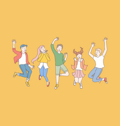 childhood friendship party concept vector image