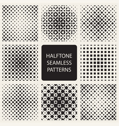 Collection of square halftone seamless geometric vector