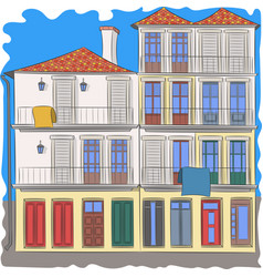 Colorful traditional house in porto vector