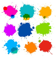 Colorful Transparent Stains Blots Splashes Set vector image