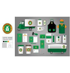 corporate identity template set 20 logo concept vector image
