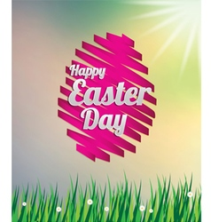 Easter egg ribbon on meadow vector image vector image