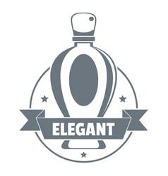 Elegant perfume logo vintage style vector