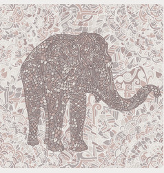 Elephant in asian style mandala seamless nude vector