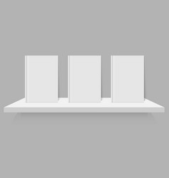 empty white book on shelf vector image