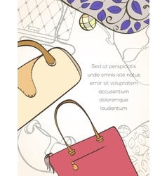 Fashion shopping card vector image