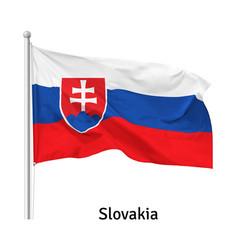 Flag slovak republic vector