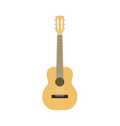 flat guitar acoustic classic musical instrument vector image