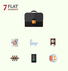 flat icon lifestyle set of boardroom router vector image