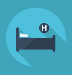 Flat modern design with shadow hospital bed vector