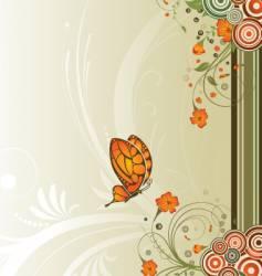 flower design background vector image