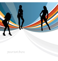 Girls background vector