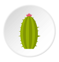 Green mexican cactus icon circle vector