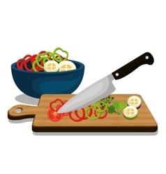 Healthy and delicious food vector