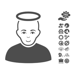 Holy Man Icon With Tools Bonus vector image