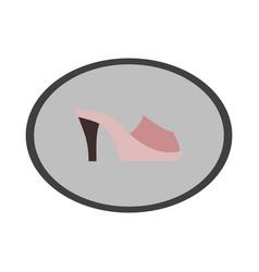 icon in flat design fashion footwear flip flops vector image