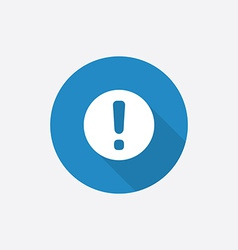 info Flat Blue Simple Icon with long shadow vector image