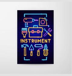 instrument neon flyer vector image