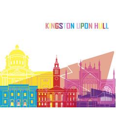 Kingston upon hull skyline pop vector