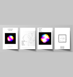 layout of a4 format cover mockups design vector image