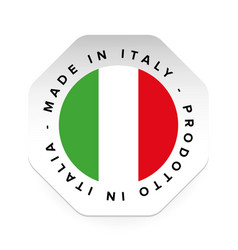 Made in italy label sign vector