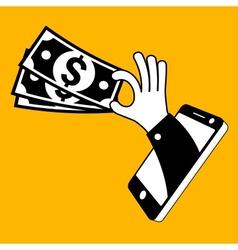 Money cash concept vector