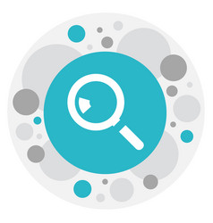 Of business symbol on search vector