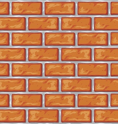 orange brick wall background vector image