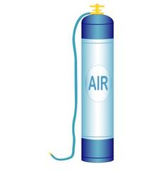 Oxygen cylinder vector