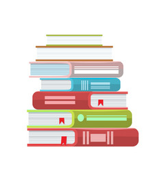 pile of books icon stack of vector image