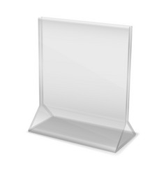 plastic office organizer stand display acrylic vector image