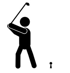 playing golf icon vector image