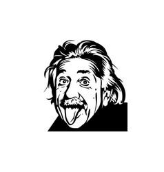 Portrait albert einstein physicist chemist vector