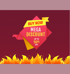 price tag special offer discount isolated vector image