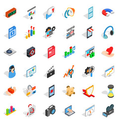 right design icons set isometric style vector image