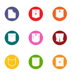 Sackful icons set flat style vector