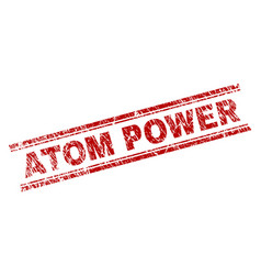 scratched textured atom power stamp seal vector image