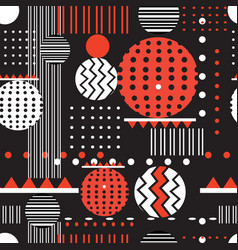 seamless geometric graphic pattern vector image